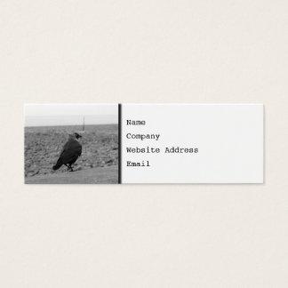 Imagem do pássaro. Jackdaw. Cartão De Visitas Mini
