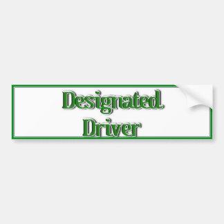 Imagem do texto do motorista designado adesivos