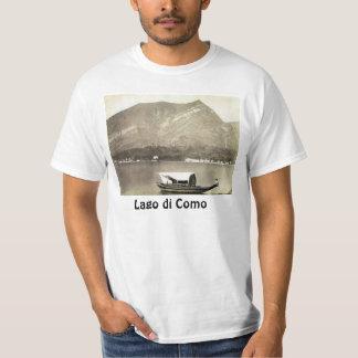 Imagem do vintage, lago Como, cerca de 1890 T-shirt