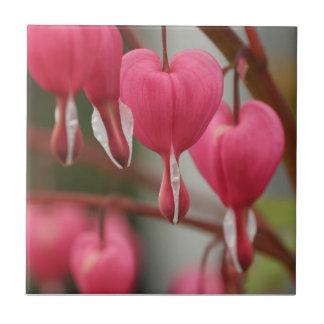 Imagem dos corações de sangramento azulejos