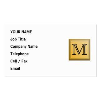 Imagem feita sob encomenda do monograma, cores não cartão de visita