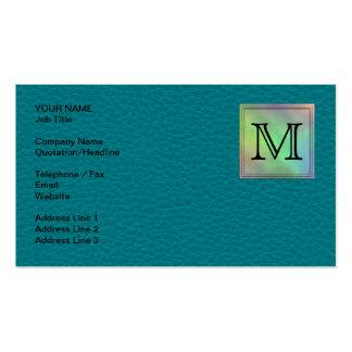 Imagem feita sob encomenda impressa do monograma cartão de visita