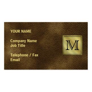 Imagem feita sob encomenda impressa do monograma. cartão de visita