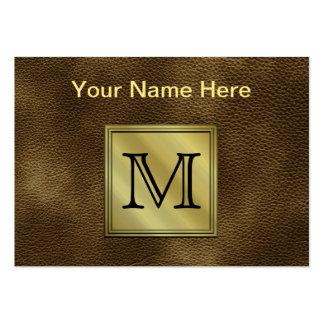 Imagem feita sob encomenda impressa do monograma. cartão de visita grande