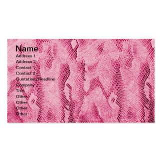 Imagem feminino elegante legal da pele de cobra do cartões de visita
