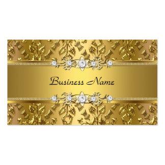 Imagem gravada do ouro damasco elegante elegante cartão de visita
