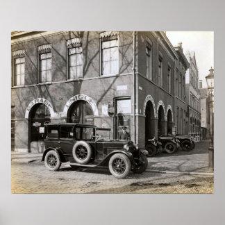 Imagem holandesa do vintage, garagem original, car impressão