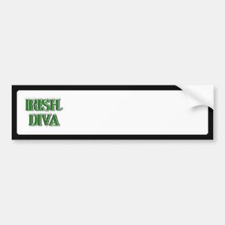 Imagem irlandesa do texto da diva adesivo