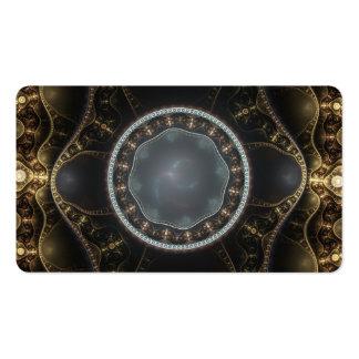 Imagem ornamentado metálica do Fractal de Cartão De Visita