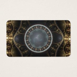 Imagem ornamentado metálica do Fractal de Cartão De Visitas