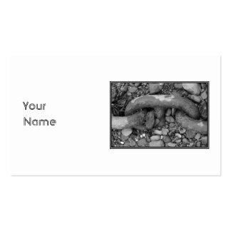 Imagem preto e branco da corrente cartões de visitas