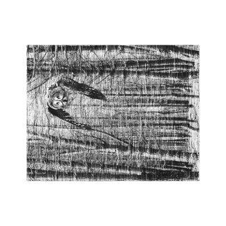 Imagem preto e branco de uma coruja impressão em tela