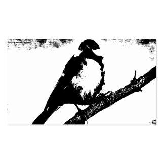 Imagem preto e branco do pássaro cartão de visita