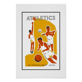 Imagem retro dos esportes do impressão