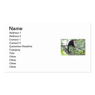 Imagem selvagem do macaco modelos cartão de visita