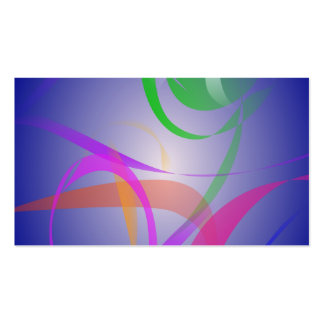 Imagem verde do abstrato da flor cartao de visita
