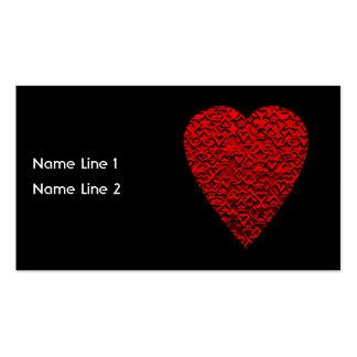 Imagem vermelha brilhante do coração cartão de visita