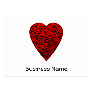 Imagem vermelha brilhante do coração cartão de visita grande
