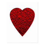 Imagem vermelha brilhante do coração cartao postal
