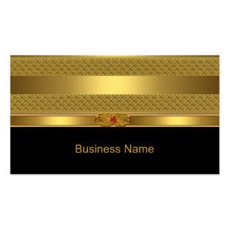 Imagem vermelha da jóia de Deco do ouro elegante Cartão De Visita