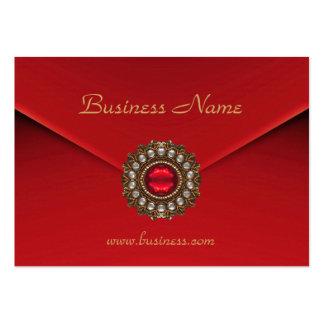 Imagem vermelha do olhar do negócio do cartão de cartão de visita grande
