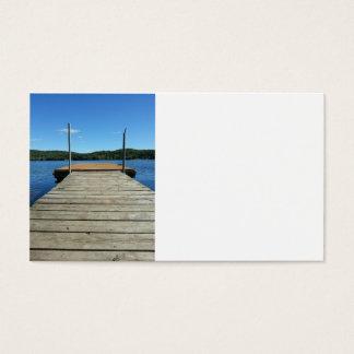 Imagens frente e verso da doca cartão de visitas