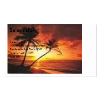 imagens, Selenasfan, produtos do husn, Cartão De Visita