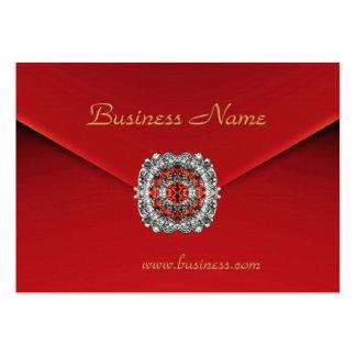 Imagens vermelhas do diamante de veludo do negócio cartão de visita grande