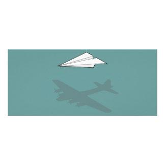 Imaginação Overactive do avião de papel 10.16 X 22.86cm Panfleto