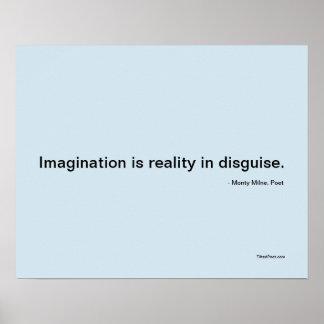 Imaginação - poster da poesia