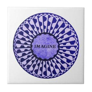 Imagine o mosaico, Strawberry Fields, Central Park Azulejo Quadrado Pequeno