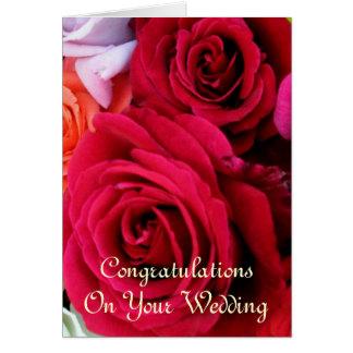 imagine rosas Wedding Cartão Comemorativo