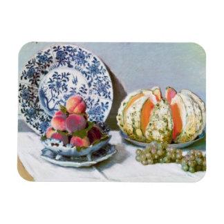 Íman Ainda vida com melão, Claude Monet 1872