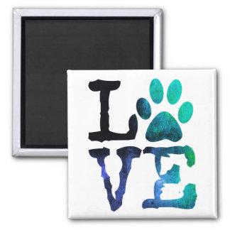 Íman Amor, ímã do impressão da pata do cão