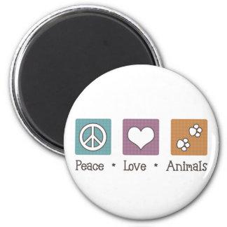 Íman Animais do amor da paz (duas patas)