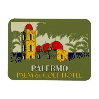 Íman Anúncio retro do viagem do hotel de Palermo