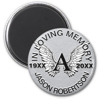 Íman Asas do anjo do memorial | do monograma |