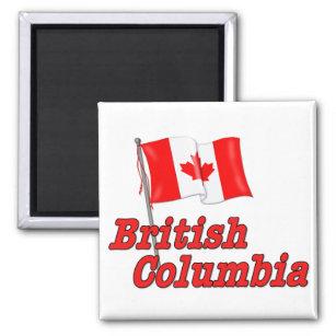 Íman Bandeira de Canadá - Columbia Britânica