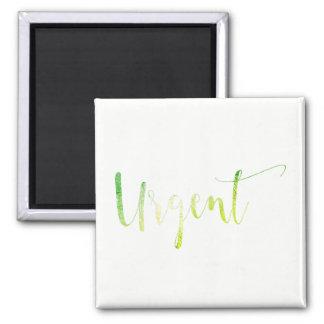 Íman Branco verde urgente para fazer o escritório