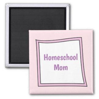 Íman Caixa roxa legal com mamã de Homeschool