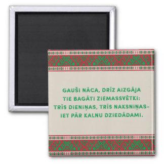 Íman Canção popular do Natal mim Latviesu Tautasdziesma