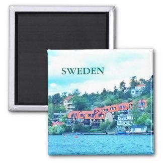 Íman Casas dianteiras do lago, suecia