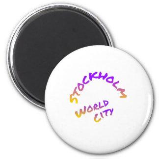 Íman Cidade do mundo de Éstocolmo, arte colorida da