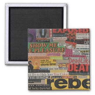 Íman Colagem #8 da imagem do compartimento e do cartão