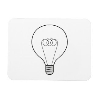 Íman com lâmpada foto com ímã retangular