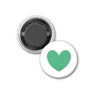 Íman Corações verdes da polca de Kelly no branco