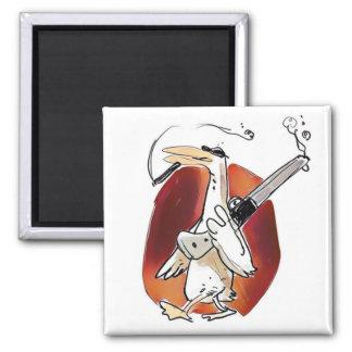 Íman desenhos animados engraçados do pato legal do