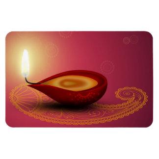 Íman Diwali feliz brilhante Diya - ímã flexível