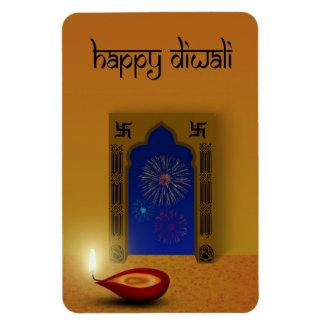 Íman Diwali feliz festivo - ímã flexível
