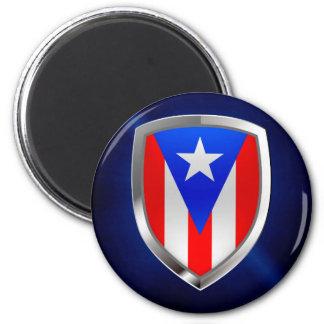 Íman Emblema metálico de Puerto Rico